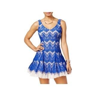 B. Darlin Womens Juniors Semi-Formal Dress Lace Party - 5/6