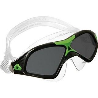 Aqua Sphere Unisex Seal Xp Swim Mask, Made In Italy, Smoke/Black/Green, Os