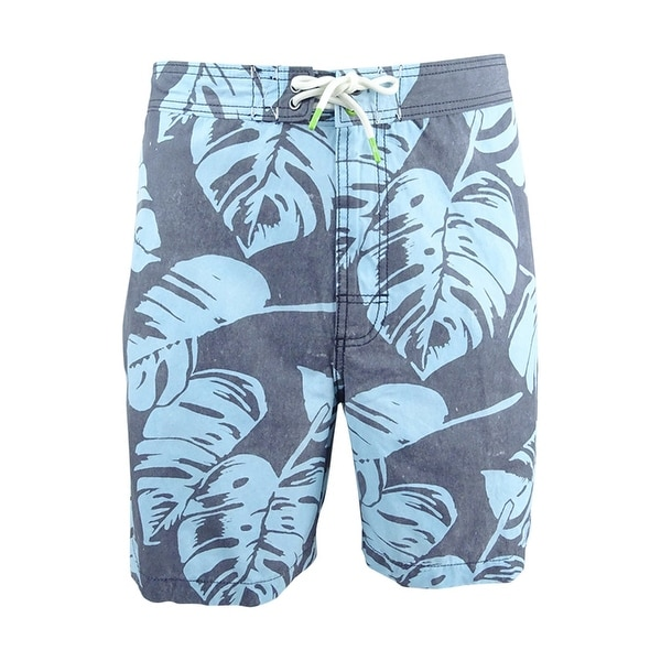Tommy Bahama Men's Baja Leaf In The Sun Board Shorts - steel wool