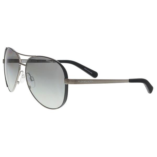 2c685670d4 Michael Kors MK5004 101311 Gumnetal  Black Aviator Sunglasses - 59-13-135