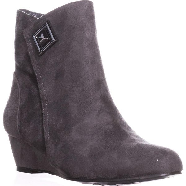 Impo Giovanna Wedge Ankle Booties, Seel Grey - 7 us