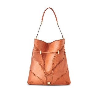 Brian Atwood Womens Lucas Hobo Handbag Leather Whipstitch - LARGE