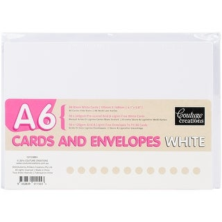 White - Couture Creations A6 Cards W/Envelopes 50/Pkg