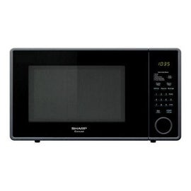 Sharp R309YK Carousel Microwave Oven, 1.1 Cu. Ft., 1000-Watts, Black