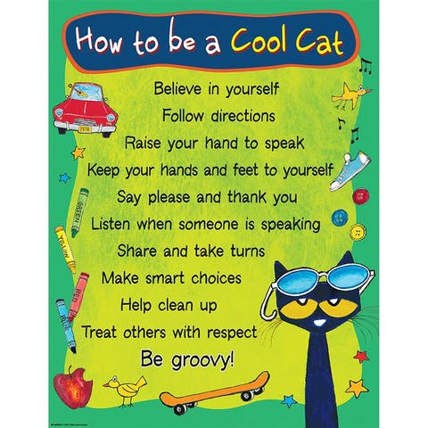 Pete The Cat To Be Cool Cat Chart - Green