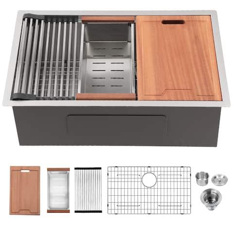Undermount Stainless Steel Single Bowl Farmhouse Kitchen Sink