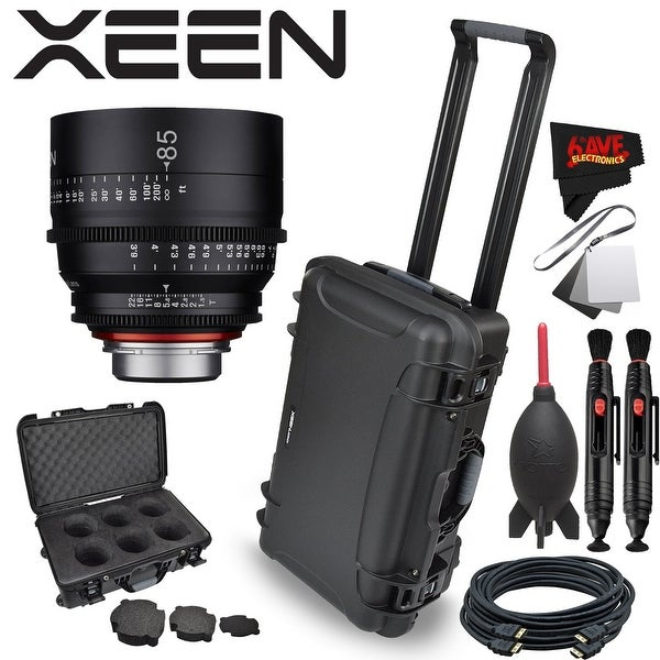 Rokinon Xeen 85mm T1.5 Lens for PL Mount with Rokinon Hardshell Carrying Case - Black