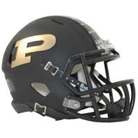 Purdue Boilermakers Speed Mini Helmet - Matte Black