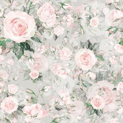 """Rose Pattern 15.7"""" W x 16.5 'L Peel and Stick Wallpaper Roll"""