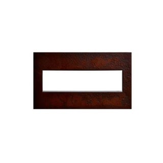 Legrand AWM4GHFMH1 adorne Hubbardton Forge 4 Gang Hand-Forged Metal Wall Plate - 8.9 Inches Wide