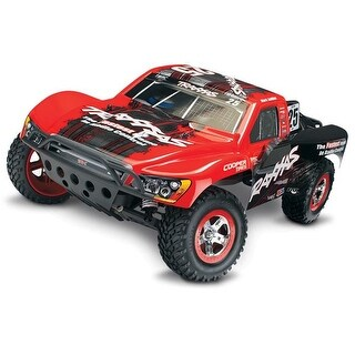Slash 1 by 10 Scale Electric Short Course Truck, Black & Red