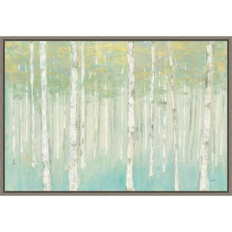 Birches at Sunrise by Julia Purinton Framed Canvas Art