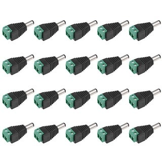 20pcs Male 5.5x2.1mm DC Power Jack Adapter End Connector for CCTV Camera - dc male 20pcs