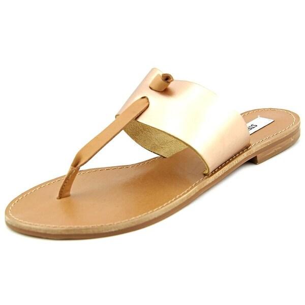 Steve Madden Olivia Open Toe Leather Thong Sandal