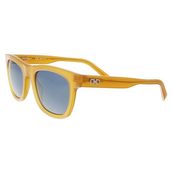 2c104c68ff33 Salvatore Ferragamo SF825S 729 Butterscotch Navigator Sunglasses - 53-21-145