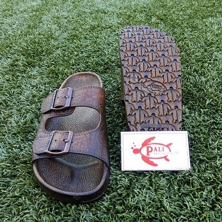 Pali Hawaii BUCKLE BROWN Sandals with Certificate of Authenticity
