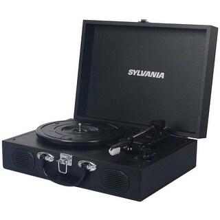 Sylvania STT102USB-BLACK Suitcase Design PC Encoding USB Turntable Manufacturer Refurbished