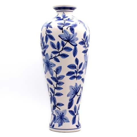 Claybarn Blue Garden Tall Floral Vase