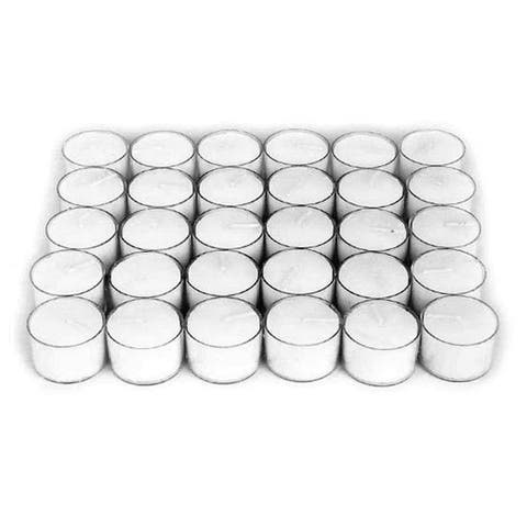 Afloral Wedding Decorations 30 Pieces Tealight Candles White - 10.8 x 8 x 2