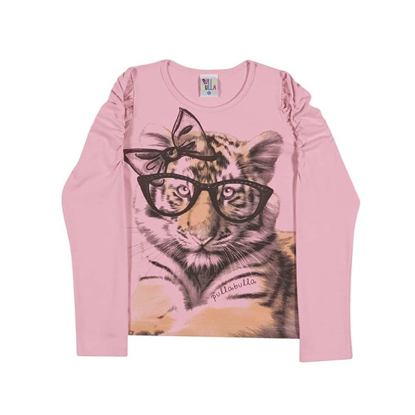 Girls Long Sleeve T-Shirt Kitten Graphic Tee Kids Pulla Bulla Sizes 2-10 Years