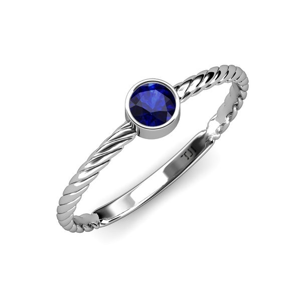 TriJewels Blue Sapphire 1/2 ct Womens Solitaire Promise Ring 14K Gold. Opens flyout.