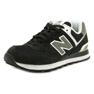 New Balance W574 Women Round Toe Suede Black Sneakers