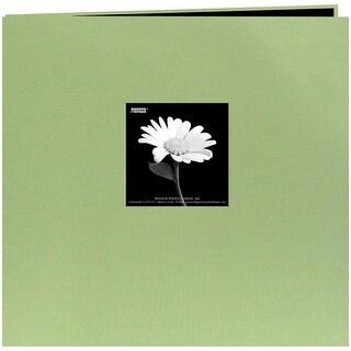 "Pioneer Book Cloth Cover Post Bound Album 8""X8""-Sage Green - Sage Green"