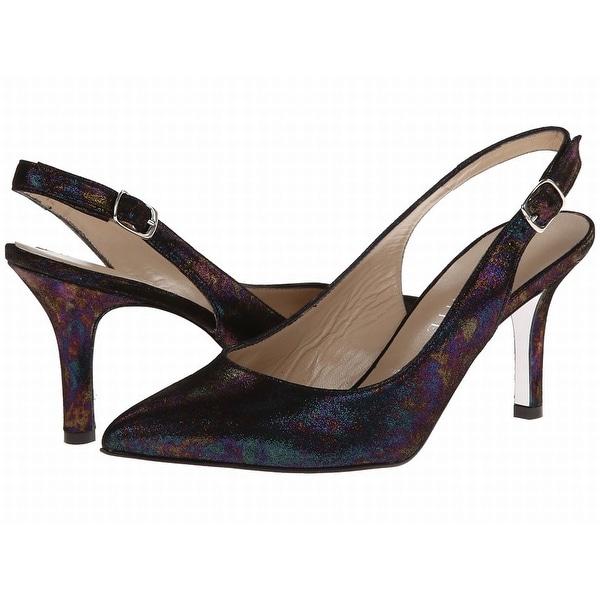 Ron White NEW Black Shoes Size 9M Slingbacks Printed Heels