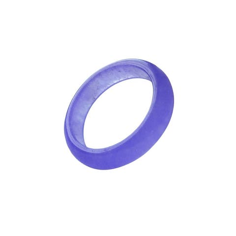 Solid Lavender Jade Band Ring - Size 5.75 thur 8.25