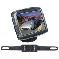 "PYLE PRO PLCM36 3.5"" Slim TFT LCD Universal Mount Monitor System with License Plate Mount & Backup Camera"