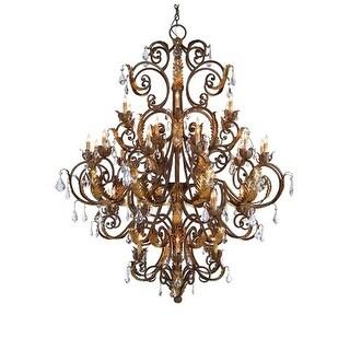 Currey and Company 9530 Innsbruck Chandelier - venetian/gold leaf/swarovski crystal