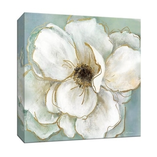 """PTM Images 9-147941  PTM Canvas Collection 12"""" x 12"""" - """"Soft Teal Splendor II"""" Giclee Flowers Art Print on Canvas"""