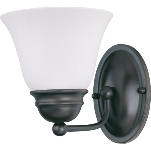 """Nuvo Lighting 60/3355 Empire Single Light 6.3"""" Wide Bathroom Sconce with Alabaster Bell Glass Shade"""