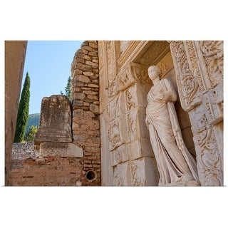 """""""The library of Celsus"""" Poster Print"""