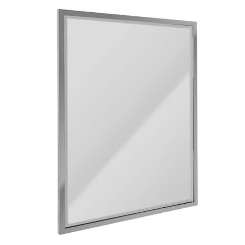 Head West Chrome Stainless Steel Framed Beveled Mirror - 30 x 40 - 30 x 40