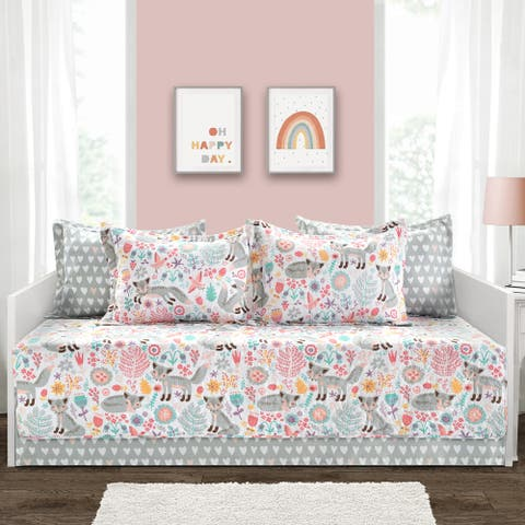 Lush Decor Pixie Fox 6 Piece Daybed Cover Set