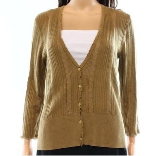 Lauren Ralph Lauren NEW Brown Women's Size Medium M Cardigan Sweater