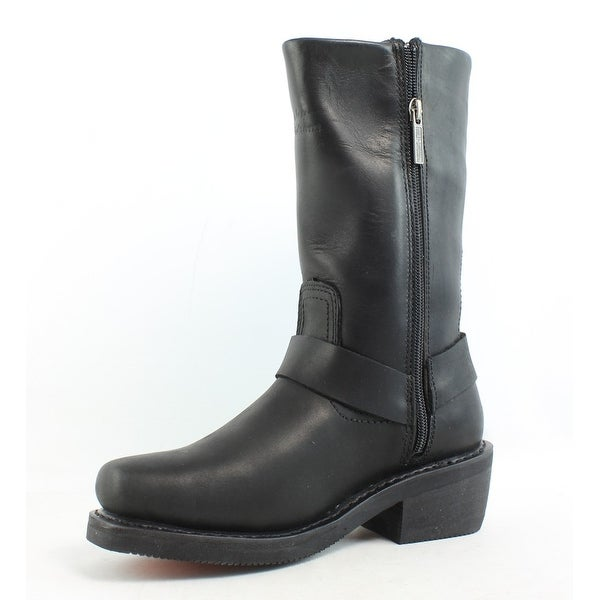 Ladies Harley Davidson Mid Calf Zip Up Waterproof Boots HUSTIN