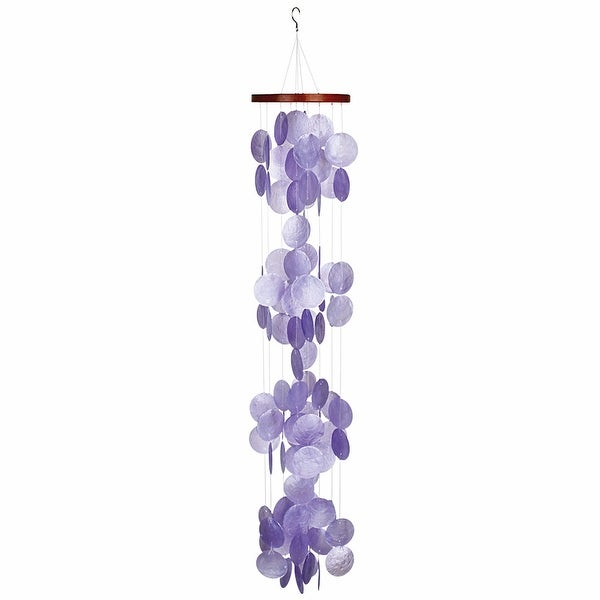 Violet Capiz Shell Waterfall Wind Chimes