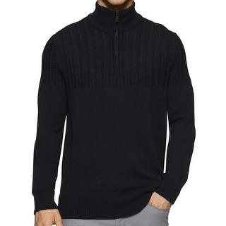 Calvin Klein NEW Black Mens Size Medium M Pullover 1/2 Zip Sweater