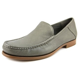 Calvin Klein Danby Men Moc Toe Leather Gray Loafer
