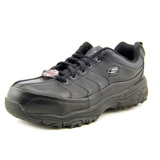 Skechers For Work D'Lite SR Enchant Women  Round Toe Leather Black Work Shoe