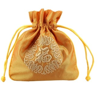 Drawstring Wedding Party Candy Jewelry Gift Coin Packaging Bag Pouch Yellow