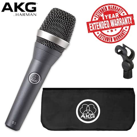 AKGD5 Vocal Microphone Includes Carrying Bag, Stand Adapter