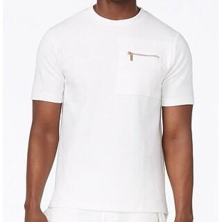 Sean John NEW Bright White Mens Size 3XL Ribbed Crewneck Tee Shirt