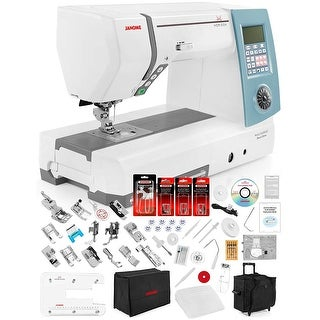 Janome Memory Craft Horizon 8900 QCP Computerized Sewing Machine w/Extension Table + Trolley + Semi-Hard Cover + Much More!