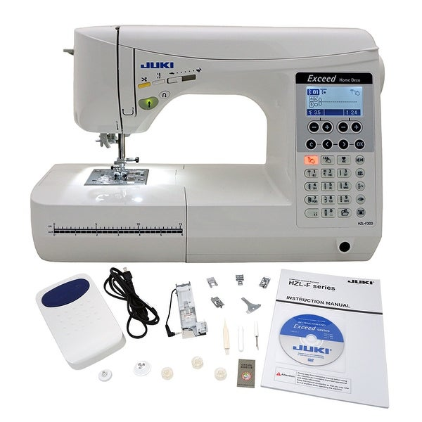 "Juki Exceed HZL F300 Home Deco Computerized Sewing Machine - 1"" x 1"" x 1"""
