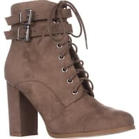 madden girl Klaim Lace Up Combat Ankle Boots, Taupe