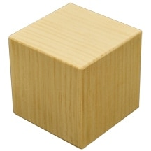 "1 Pc of 6"" Pine Memory Cube"