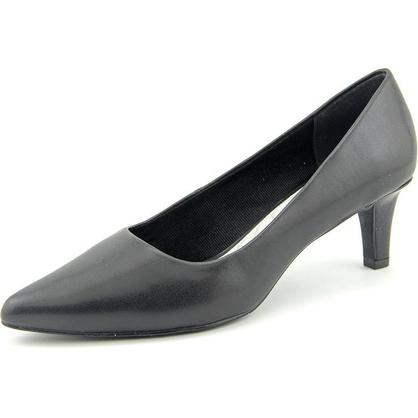 Easy Street Pointe Women Pointed Toe Synthetic Black Heels